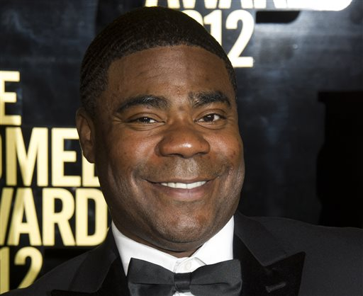 "This April 28, 2012 file photo shows Tracy Morgan at The 2012 Comedy Awards in New York. Actor and comedian Tracy Morgan has been upgraded to fair condition following the New Jersey highway crash that badly injured him and killed one of his friends, his spokesman said Monday, June 16, 2014. ""His personality is certainly starting to come back as well,"" spokesman Lewis Kay said.  (AP Photo/Charles Sykes, File)"