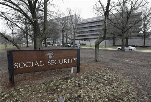This Jan. 11, 2013, file photo shows the Social Security Administration's main campus in Woodlawn, Md. (AP Photo/Patrick Semansky, File)