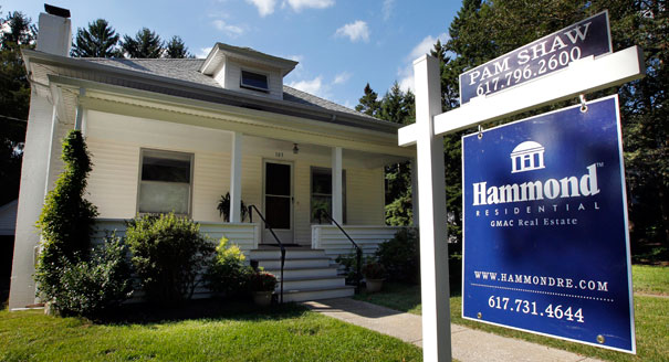 A home is for sale in Newton, Mass. (AP Photo)