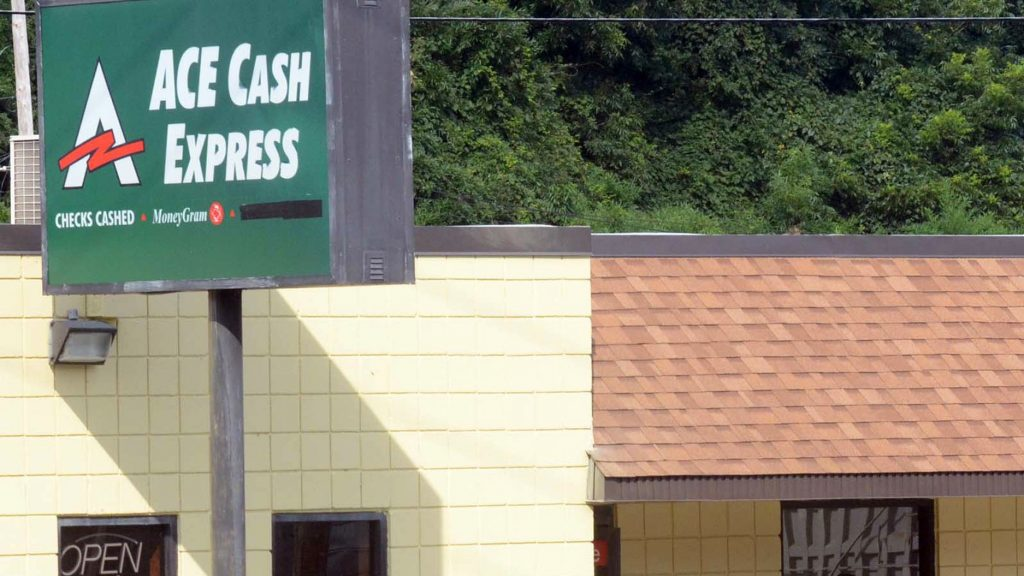 An ACE Cash Express storefront in North Carolina. (Sonny Hedgecock/AP)