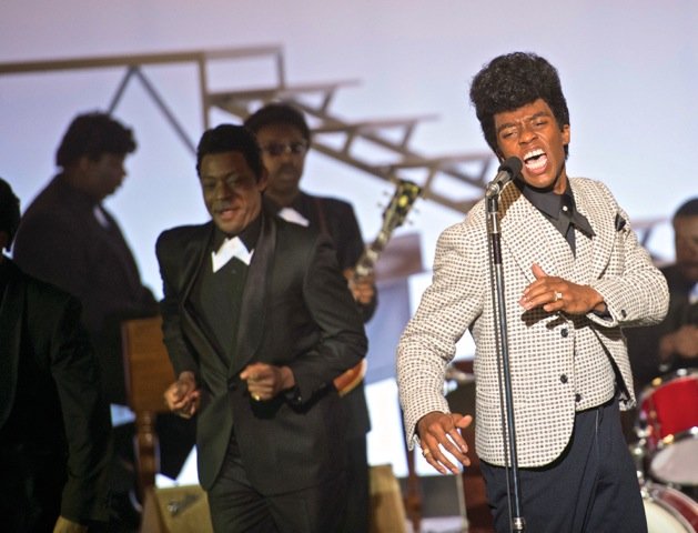 Chadwick Boseman (right) as James Brown and Nelsan Ellis (left) as sidekick Bobby Byrd. (Courtesy Photo)