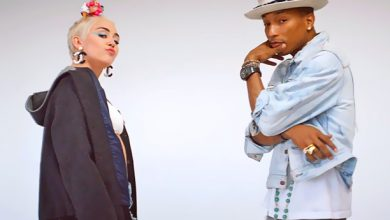 "Photo of Pharrell, Miley Cyrus Team Up for ""Come Get It Bae"" Video"