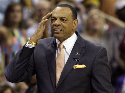 In this May 27, 2013 file photo, Memphis Grizzlies coach Lionel Hollins gestures during the first half in Game 4 of the Western Conference finals NBA basketball playoff series  against the San Antonio Spurs, in Memphis, Tenn. The Brooklyn Nets say they have reached an agreement in principle with Hollins to become their coach, moving quickly after the departure of Jason Kidd. The deal with the former Grizzlies coach comes just two days after they made a trade with Milwaukee to allow Kidd out of his contract so the Bucks could hire him. The Nets then met with Hollins on Monday night and again Tuesday before agreeing to the deal on Wednesday, July 2, 2014. (AP Photo/Danny Johnston, File)