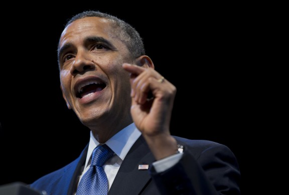 President Obama speaks on income 'inequality' on Dec. 4. (Evan Vucci/AP)