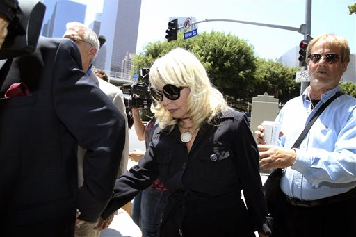 Shelly Sterling, the wife of Los Angeles Clippers owner Donald Sterling, arrives at a Los Angeles courthouse for a trial over the $2 billion Los Angeles Clippers sale on Tuesday, July 8, 2014, in Los Angeles. (AP Photo/Nick Ut)