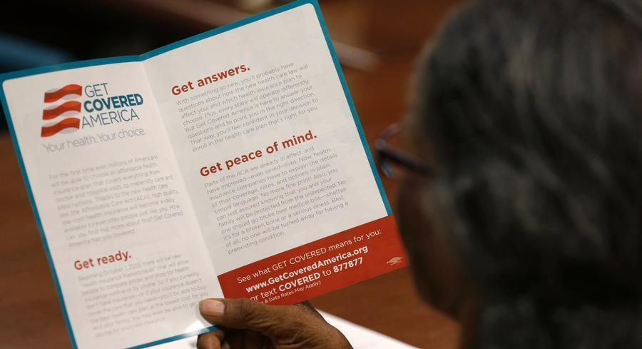 A survey by the Commonwealth Fund found that 9.5 million fewer adults are uninsured. (AP Photo)