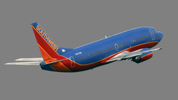 A Southwest Airlines Boeing 737-300 takes off Thursday, Jan. 20, 2011 in Tampa, Fla. (AP Photo/Chris O'Meara)