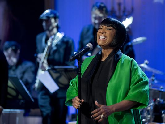 """Patti LaBelle sings """"Over the Rainbow"""" during the """"In Performance at the White House: Women of Soul"""" on March 6, 2014. (Manuel Balce Ceneta/AP)"""