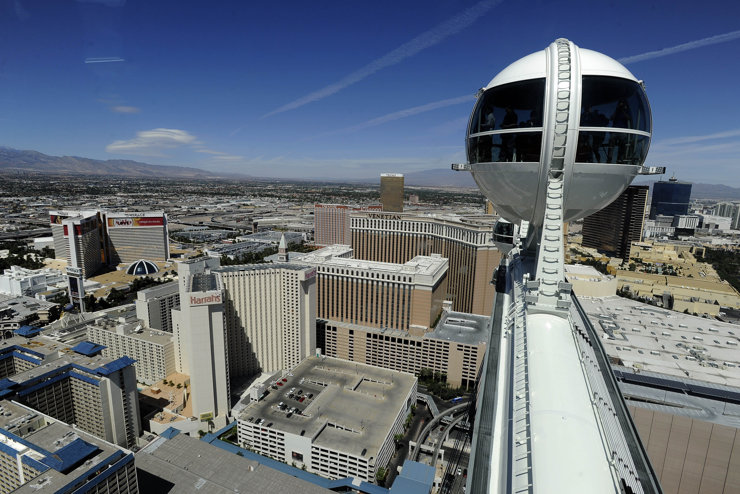 The view from the top of the 550-foot Las Vegas High Roller. (Photo: David Becker/AP)