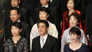 Photo of 5 Women Named to Japan's Cabinet, Tying Past High