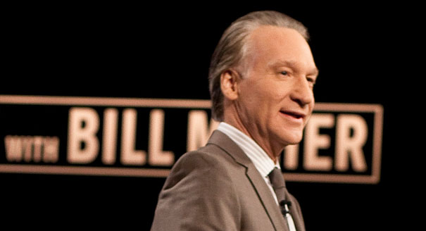 """Bill Maher on the set of his HBO show """"Real Time with Bill Maher"""" (AP Photo)"""