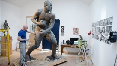Photo of 9-Foot Joe Frazier Statue Rising in Philadelphia