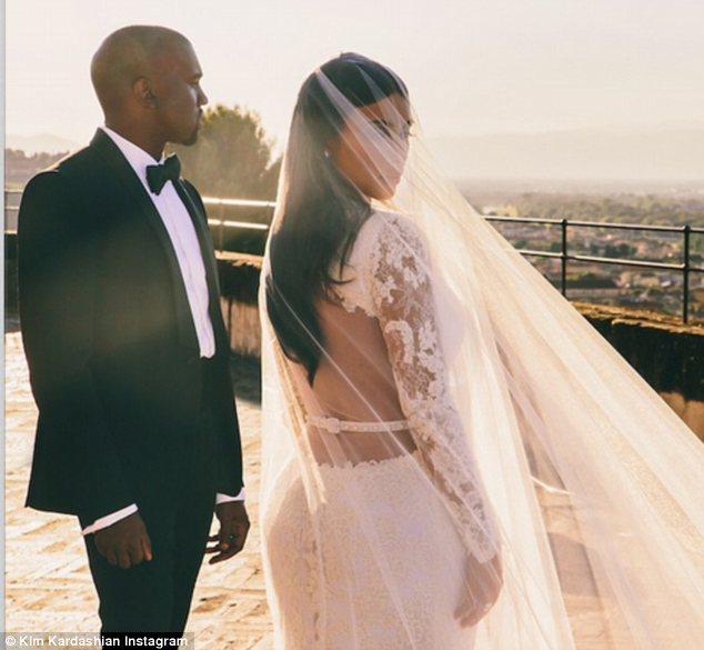 Kanye West and Kim Kardashian (Courtesy of Kim Kardashian/Instagram)