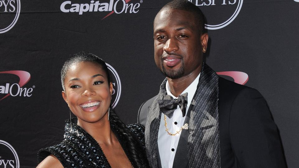 In this July 17, 2013, Actress Gabrielle Union, left, and Miami Heat's Dwyane Wade arrive at the ESPY Awards in Los Angeles. (Jordan Strauss/Invision/AP, File)