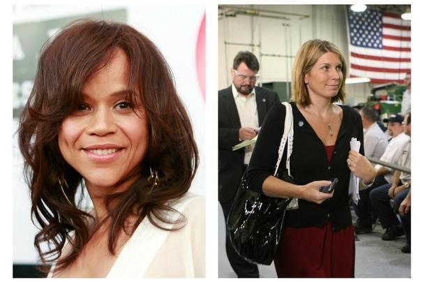 """Actress Rosie Perez, left, and Republican political operative Nicolle Wallace, right, are joining the cast of ABC's """"The VIew."""" (Photo: Associated Press)"""