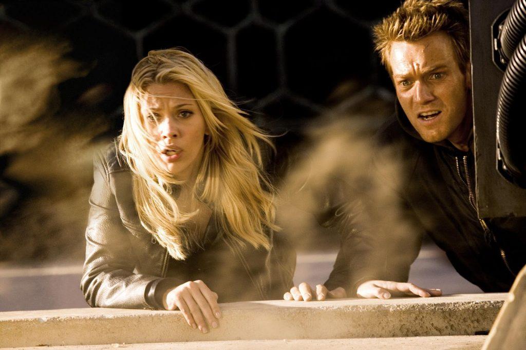 "Scarlett Johannson and Ewan McGregor in ""The Island"""