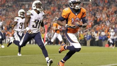 Photo of Emmanuel Sanders Catches Career-High Three TD's In Broncos' 35-21 Win Over Chargers