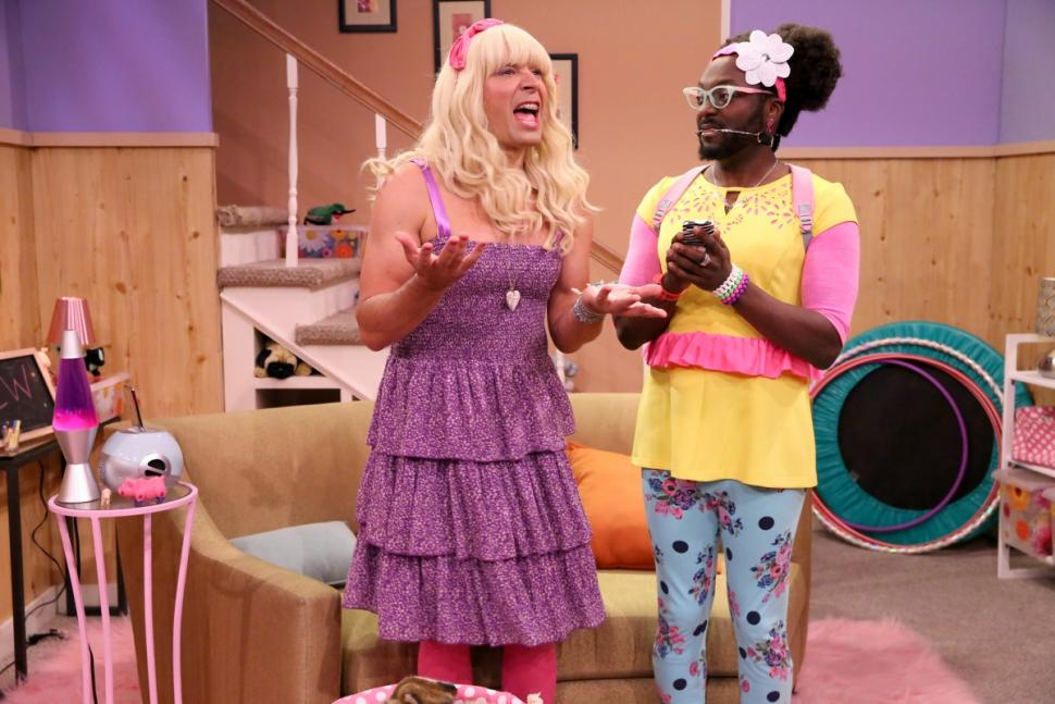 Jimmy Fallon and will.i.am perform on the music video for 'Ew!' (Douglas Gorenstein/NBC)