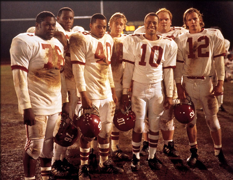 """The cast of """"Remember the Titans"""". Donald Faison (#40) portrays Petey Jones, who still works at T.C. Williams High School in Alexandria, VA (Courtesy Photo)"""