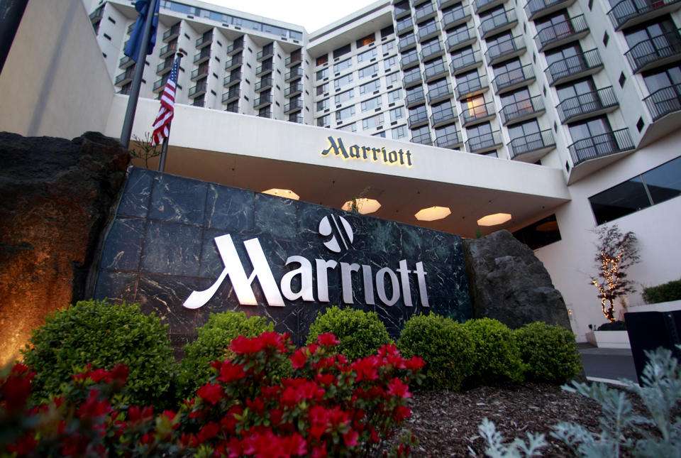 Portland Marriott Downtown Waterfront is shown Wednesday, April 20, 2011, in Portland, Ore. (AP Photo)