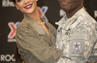 Photo of Rihanna Teases New Music at Virginia Military Base
