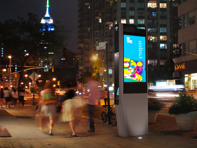A mock-up of a Link station in New York City. (Photo by LinkNYC)
