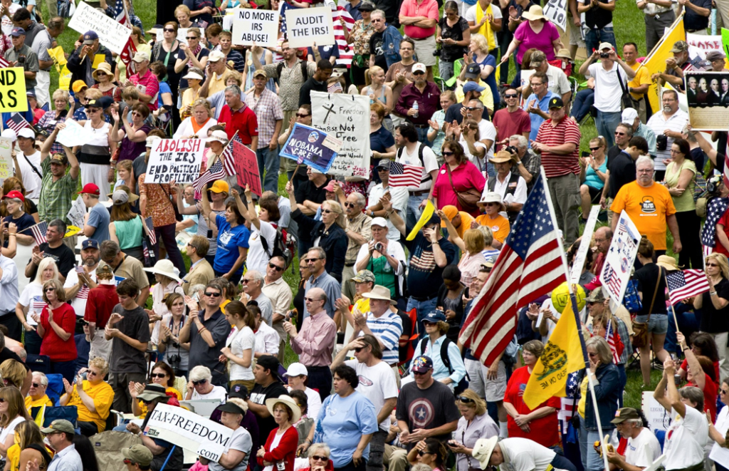 Tea Party activists attend a rally on the grounds of the U.S. Capitol in Washington, Wednesday, June 19, 2013. (AP Photo)