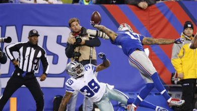 Photo of Giants' Odell Beckham Jr. Makes Incredible One-Handed Touchdown Catch