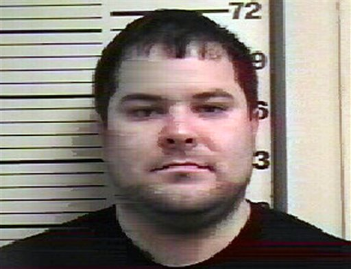 In this Feb. 13, 2013 photo provided by the Crawford County, Ill., Sheriff's Office is Everett  Adam Livvix of Robinson, Illinois.  Livvix, 30, has been charged with possessing weapons that Israeli police say he planned to use to blow up holy sites in Jerusalem. (AP Photo/Crawford County Sheriff)