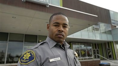 Photo of Black Officers Torn Between Duty and Race