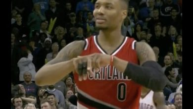 Photo of Damian Lillard Shows Off New Celebration After Hitting Huge Three