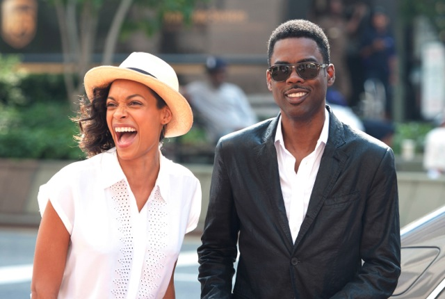 "Rosario Dawson and Chris Rock star in the comedy satire ""Top Five."""