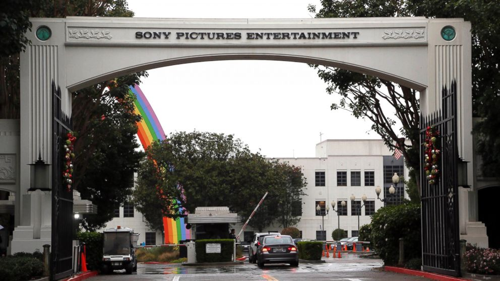 In this Dec. 2, 2014 file photo, cars enter Sony Pictures Entertainment headquarters in Culver City, Calif. Sony Pictures said the investigation into the cyberattack that crippled its computer systems is continuing and denies a report that it is poised to name North Korea as the culprit. (AP Photo/Nick Ut, File)