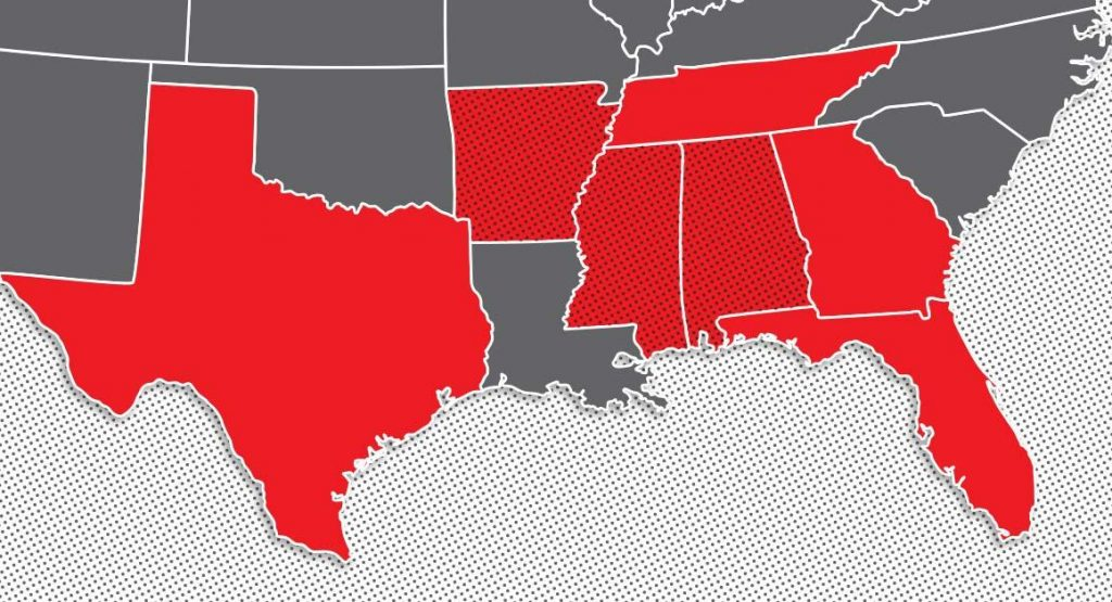The Deep South (Courtesy of Politico)