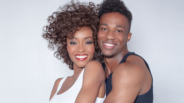 Yaya DeCosta and Arlen Escarpeta star as Whitney Houston and Bobby Brown in the Angela Basset-directed Lifetime biopic. (Courtesy Lifetime Television)