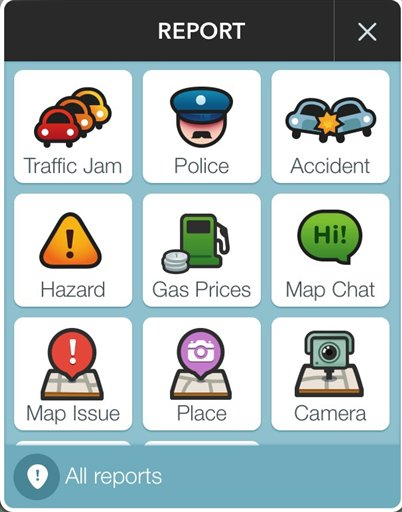 A page from the Waze app is seen in Washington, Wednesday, Jan. 28, 2015. A sheriffs' organization is broadening its concerns about the popular Waze mobile traffic app. Now it says a feature that lets drivers warn others about nearby police cruisers not only presents a threat to police safety from potential cop-killers, it also interferes with the ability to write speeding tickets. (AP Photo)