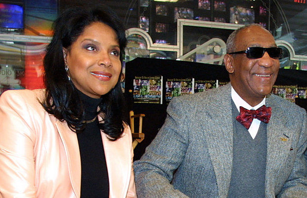 """Bill Cosby, right, with Phylicia Rashad, his television wife from """"The Cosby Show,"""" during his May 3, 2002 induction ceremony into NBC's Walk of Fame. (AP file photo)"""