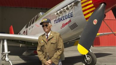 Photo of Dive Team Explores Wreckage of Tuskegee Airman's WWII Plane