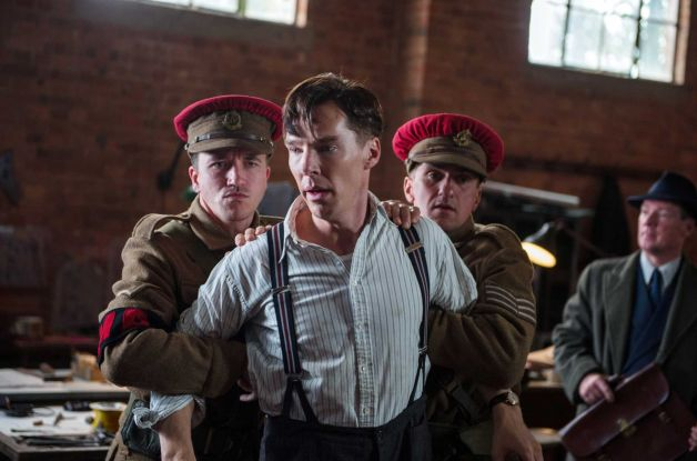 "In this image released by The Weinstein Company, Benedict Cumberbatch, center, appears in a scene from ""The Imitation Game."" (Jack English, AP/The Weinstein Company)"