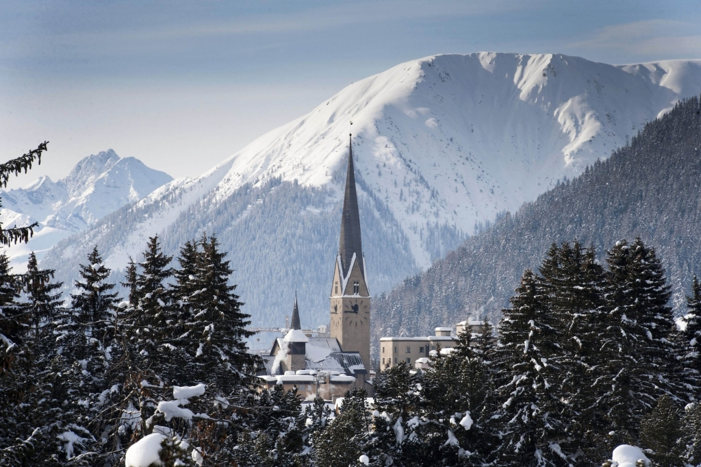 The mountain resort of Davos pictured during last year's meeting of the World Economic Forum in Davos, Switzerland, Sunday, Jan. 29, 2012. (AP Photo/Keystone/Laurent Gillieron)