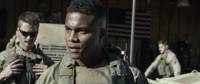 Luke Grimes and Cory Hardrict as play young G.I. s in the war drama American Sniper.