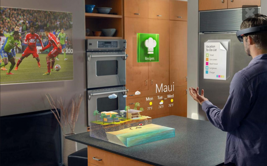 Microsoft Hololens (Courtesy Microsoft Hololens trailer)
