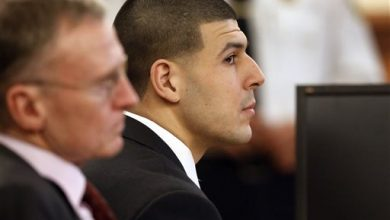 Photo of Aaron Hernandez Portrayed as Angry with Odin Lloyd on Day 28 of Trial