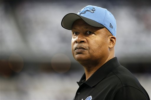 Detroit Lions head coach Jim Caldwell watches his team before an NFL wildcard playoff football game against the Dallas Cowboys, Sunday, Jan. 4, 2015, in Arlington, Texas. (AP Photo/Tony Gutierrez)