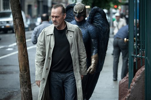 "In this image released by Fox Searchlight Pictures, Michael Keaton portrays Riggan in a scene from ""Birdman."" Keaton was nominated for an Oscar Award for best actor on Thursday, Jan. 15, 2015, for his role in the film. The 87th Annual Academy Awards will take place on Sunday, Feb. 22, 2015 at the Dolby Theatre in Los Angeles. (AP Photo/Fox Searchlight, Atsushi Nishijima)"