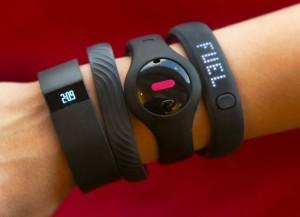 Fitness trackers as wearable tech. (AP Photo/Richard Drew)