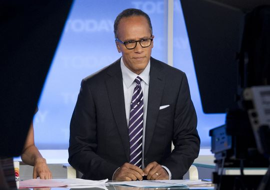 "This Sept. 16, 2012 photo released by NBC shows Lester Holt on the set of ""Today"" in New York. (Charles Sykes/AP Photo)"
