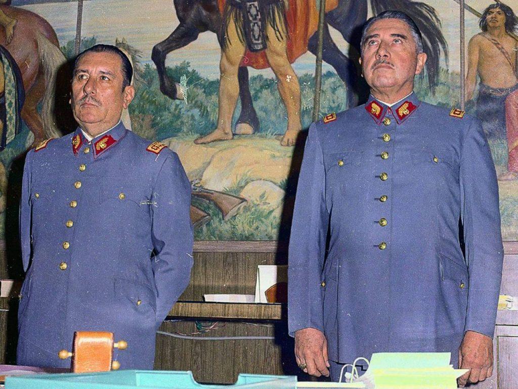 Gen. Augusto Pinochet, right, appears with former Army Chief Gen. Carlos Prats (AP Photo/La Tercera)