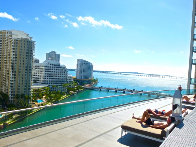 Viceroy Miami hotel view of Biscayne Bay in Miami, FL