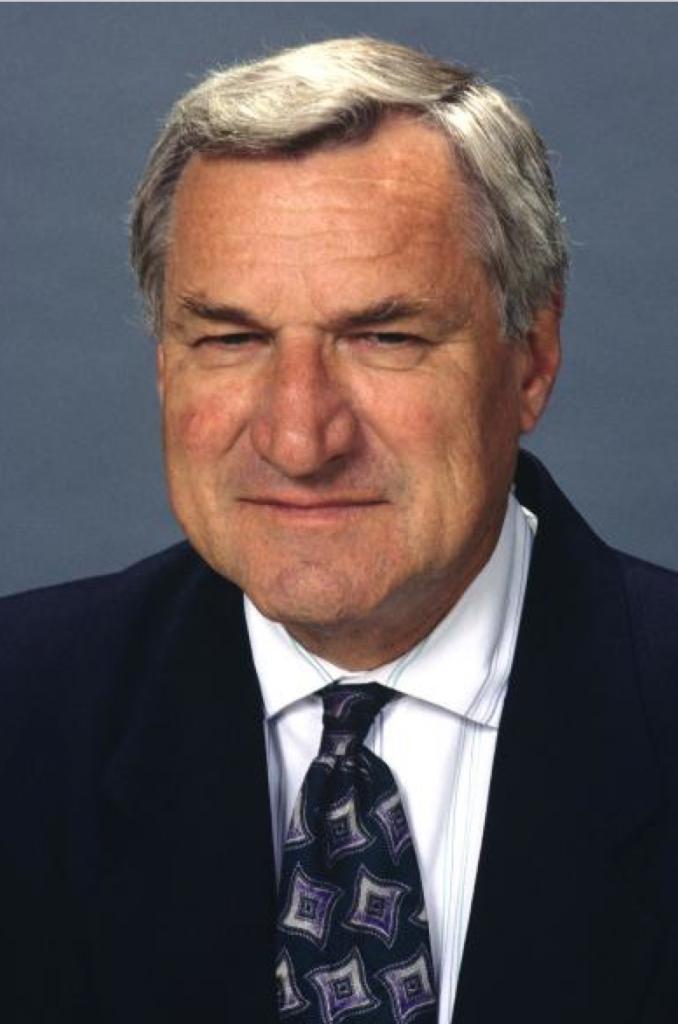 Former University of North Carolina basketball coach Dean Smith